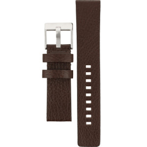 Genuine Brown Leather Replacement Strap For Diesel Watch DZ2038