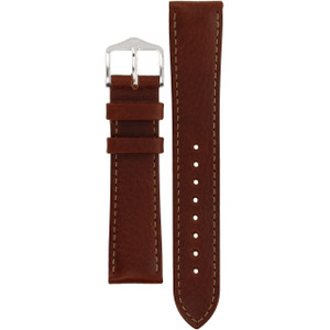 Hirsch Forest Replacement Watch Strap Brown Genuine Textured Leather 18mm