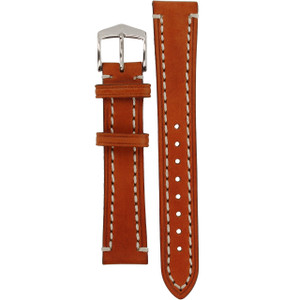 Hirsch Liberty Replacement Watch Strap Golden Brown Genuine Textured Leather 18mm