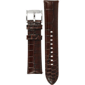 Armani Replacement Watch Strap Brown Leather 22mm For AR2413