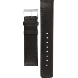 Skagen Replacement Black Leather Watch Strap For 351XLSLBMO