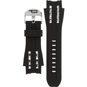 Police Replacement Watch Strap Black Rubber For 12087JS/02