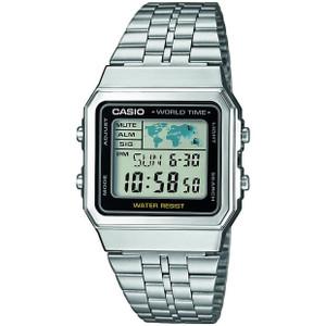 Casio Men's Classic Alarm Chronograph Digital Silver Watch A500WEA-1EF