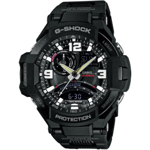 G-Shock Aviator Gravity Defier Compass Thermometer Black Watch GA-1000FC-1AER