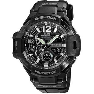 G-Shock Aviator Digital Compass Thermometer Black Chronograph Premium Watch GA-1100-1AER