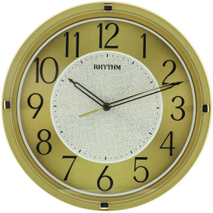 Rhythm Easy To Read Gold Tone Wall Clock With Black Accents CMG518NR18
