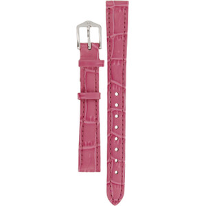 Hirsch Louisianalook Replacement Watch Strap Pink Alligator Embossed Leather 12mm