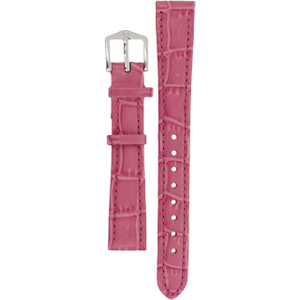 Hirsch Louisianalook Replacement Watch Strap Pink Alligator Embossed Leather 14mm