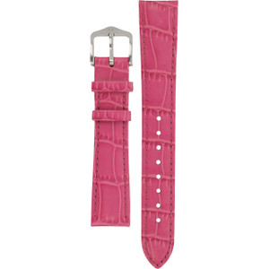 Hirsch Louisianalook Replacement Watch Strap Pink Alligator Embossed Leather 16mm