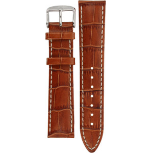 Hirsch Modena Replacement Watch Strap Golden Brown Alligator Embossed Leather 20mm