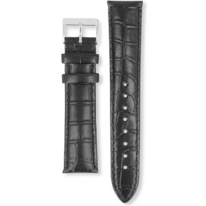 Hugo Boss Replacement Watch Strap Black Genuine Leather 22mm For HB.84.1.14.2184 With Free Connecting Pins