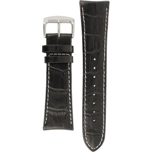 Citizen Replacement Watch Strap Black Crocodile Embossed Leather 59-S52299 For AT4000-02E