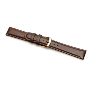 Replacement 14mm XL Brown Padded Calf Leather Strap