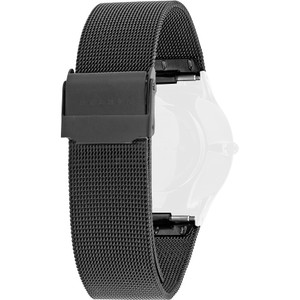 Skagen Replacement Watch Strap Black Mesh Titanium 18mm For 233LTMB With Free Connecting Pins