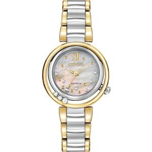 Citizen Ladies Sunrise Diamond Mother Of Pearl Dial Watch EM0324-58D