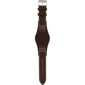 Fossil Replacement Watch Strap Brown Leather 22.5mm For CH2599