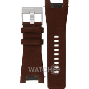 Diesel Replacement Watch Strap Brown Leather For DZ1273 With Free Pins