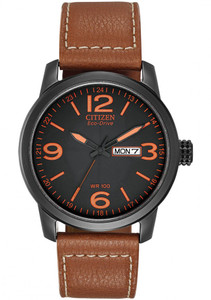 Citizen Men's Eco-Drive 12-24 Hour Day Date Display Watch BM8475-26E