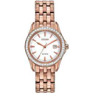 Citizen Silhouette Swarovski Crystal Ladies Rose Gold Watch EW1903-52A