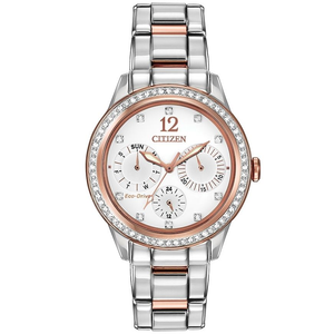 Citizen Silhouette Swarovski Crystal Ladies Two Tone Watch FD2016-51A