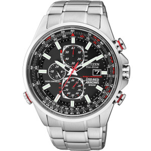 Citizen Skyhawk Red Arrows World Time Chronograph Watch AT8060-50E
