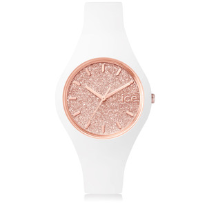 Ice Watch Pink Glitter Dial White Slim Watch Small Size ICE.GT.WRG.S.S.15