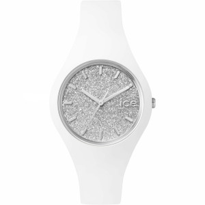 Ice Watch Silver Glitter Dial White Slim Watch Small Size ICE.GT.WSR.S.S.15