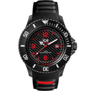 Ice Watch Ice Carbon Mens Black Dial And Silicone Strap Big Size Watch CA.3H.BK.B.S.15