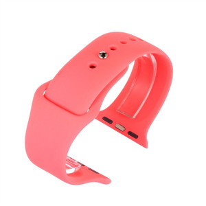 Apple Watch Replacement Strap Pink Silicone 38mm