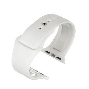 Apple Watch Replacement Strap White Silicone 42mm