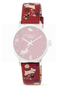 Radley Replacement Watch Strap Red Leather 15mm For RY2293 With Free Pins