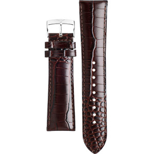 Armani Replacement Watch Strap Brown Leather Croco 22mm For AR0407