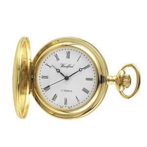 Woodford Skeleton Half Hunter Pocket Watch With Free Engraving 1056