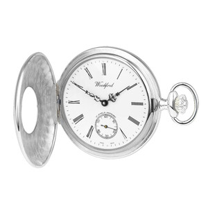 Woodford Sterling Silver Mechanical Pocket Watch For Men Swiss Made With Albert 1068