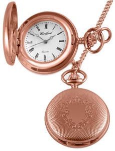 Woodford Pendant Watch Rose Gold With Chain 1241