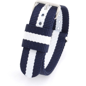 Daniel Wellington Replacement Watch Strap Blue White Nato 18mm 0802DW