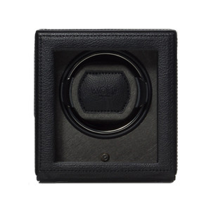 Wolf Cub Watchwinder With Cover In Pebble Black 461103