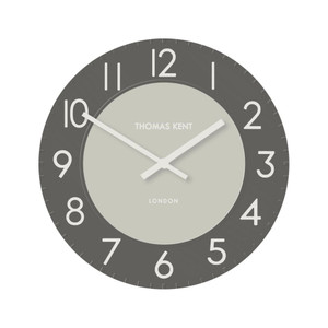 Thomas Kent Townhouse Style 30cm Wall Clock In Two-Tone Graphite Grey CKK1203