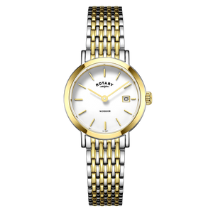 Rotary Ladies Windsor White Dial Bracelet Watch With Date LB05301/01