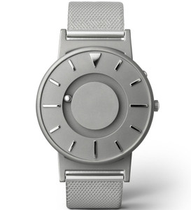Eone Bradley Braille Tactile Watch For Blind Silver Mesh