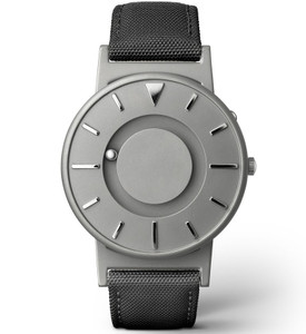 Eone Bradley Braille Tactile Watch For Blind Black Canvas