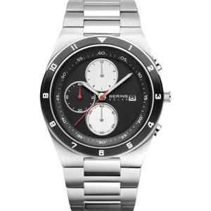 Bering Solar Powered Ceramic Mens Multi Dial Bracelet Watch 34440-702