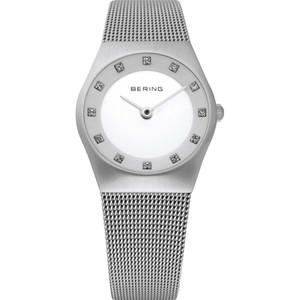 Bering Classic Ladies Ceramic Dial Swarovski Crystal Watch 11927-000