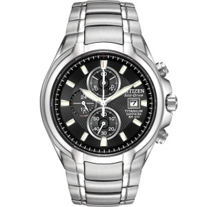 Citizen Eco Drive Titanium Black Dial Sapphire Crystal Watch CA0260-52E