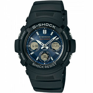-Shock Waveceptor Radio Controlled Solar Powered Blue Watch AWG-M100SB-2AER