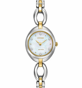 Citizen Silhouette Swarovski Crystal Ladies Two Tone Watch EX1434-55