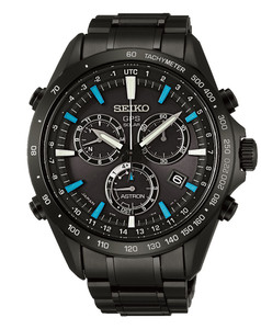 Seiko Astron Black GPS Solar Powered Ceramic Mens Watch SSE013J1