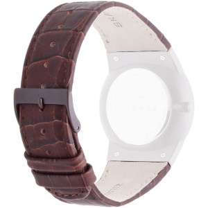 Skagen Replacement Watch Strap Brown Leather For 856XLDRD