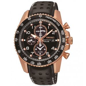 Seiko Sportura Mens Solar Powered Chronograph Watch SSC274P9