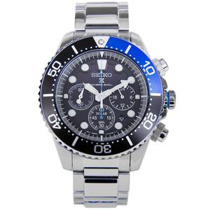 Seiko Prospex Mens Solar Powered Black Dial Watch SSC017P1